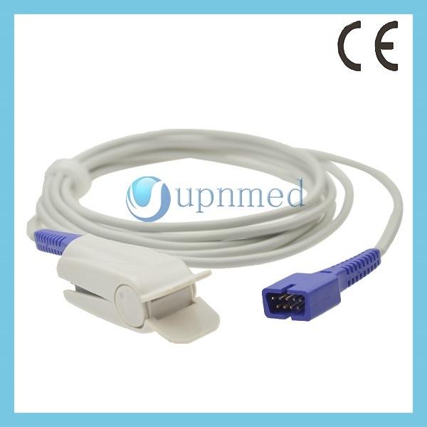 Nellcor Ds100A Oximax Adult Finger Clip SpO2 Sensor, 9pin, 0.9m