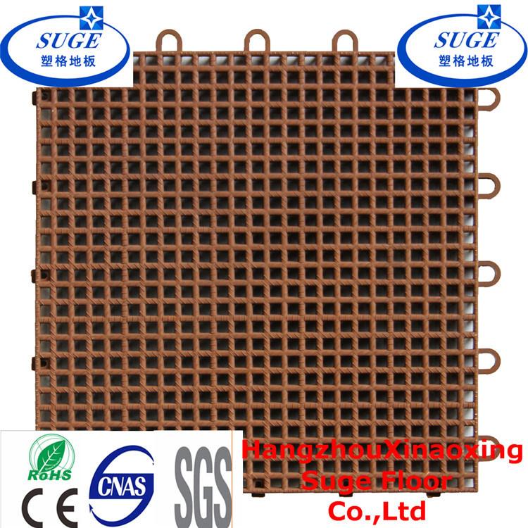 Interlocking Net Surface Basketball Court Flooring