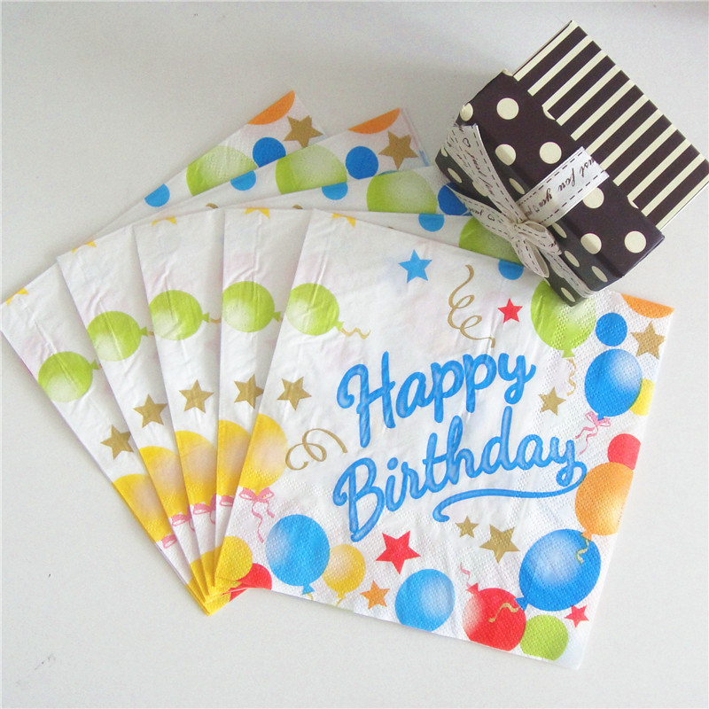 Wholesales Wedding Birthday Party Paper Napkin with Customized Logo