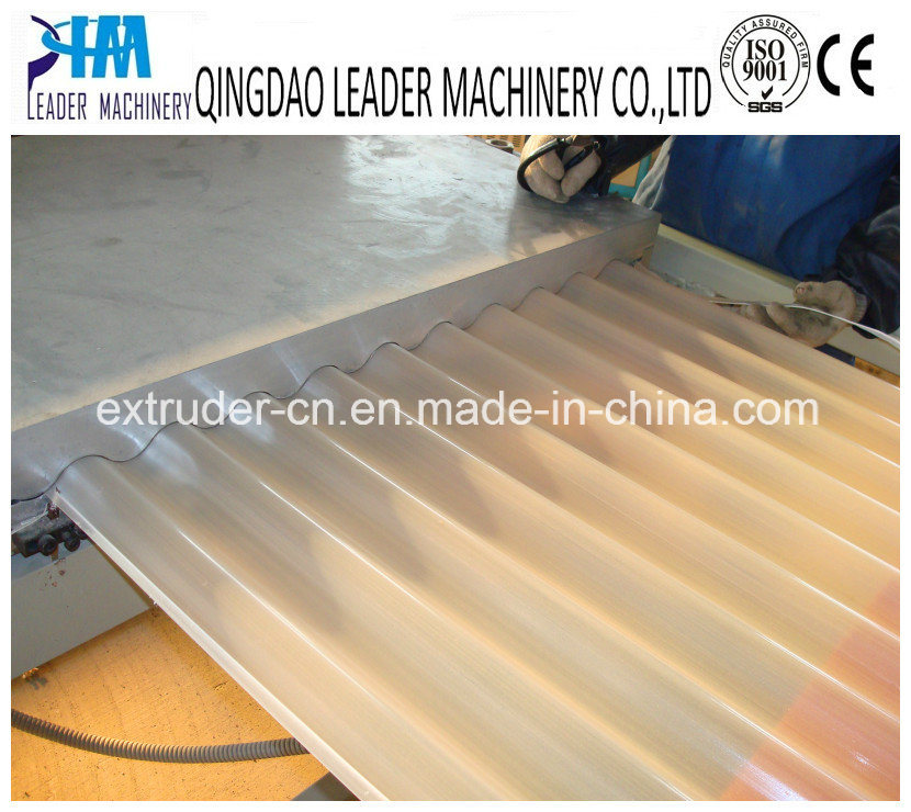 Plastic PVC+PMMA Corrugated Roofing Sheet Glazed Roofing Tiles Machine Extrusion Line