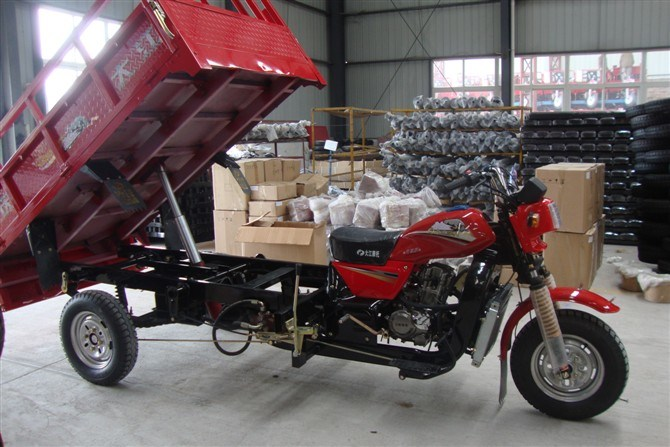200cc Water Cooled Hydraulic Dumper Tricycle for Cargo
