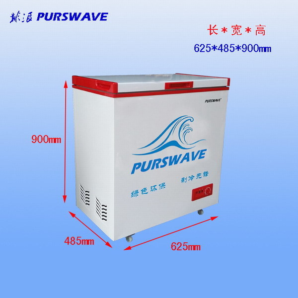 Purswavewr/Wf-108 108L DC Solar Chest Freezer 12V24V48V Single Door Refrigerator DC Compressor Freezer Powered by Solar Panel and Battery -18degree