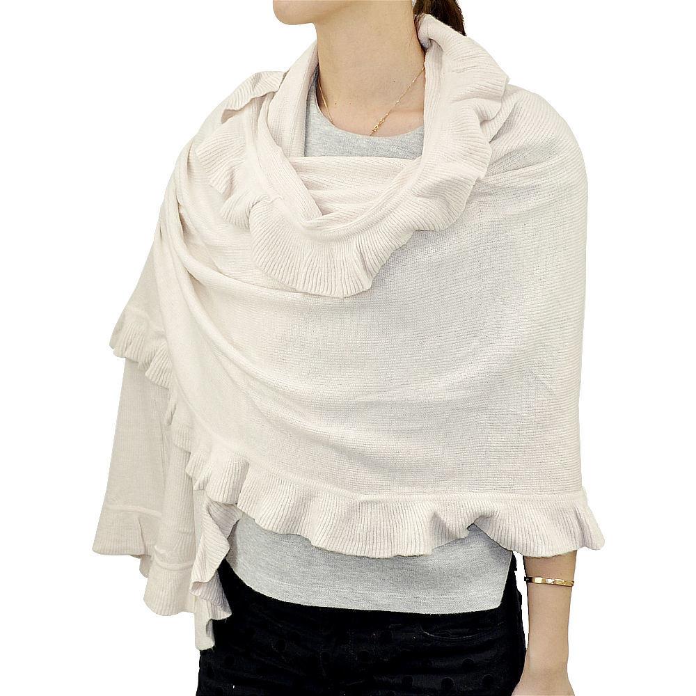 Lady Fashion Acrylic Knit Winter Ruffle Scarf Wrap Shawl (YKY4158A)