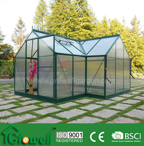 Growell Newly Designed 6mm Polycarbonate Orangery Greenhouse -- T6