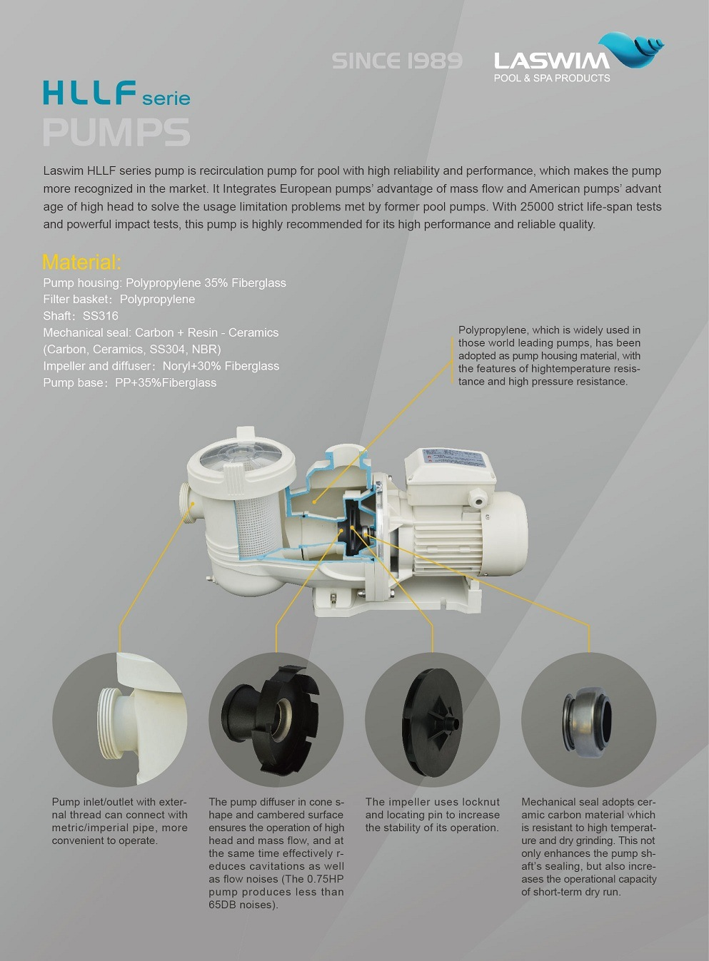 New Arrival High Efficiency Centrifugal Pool Pump