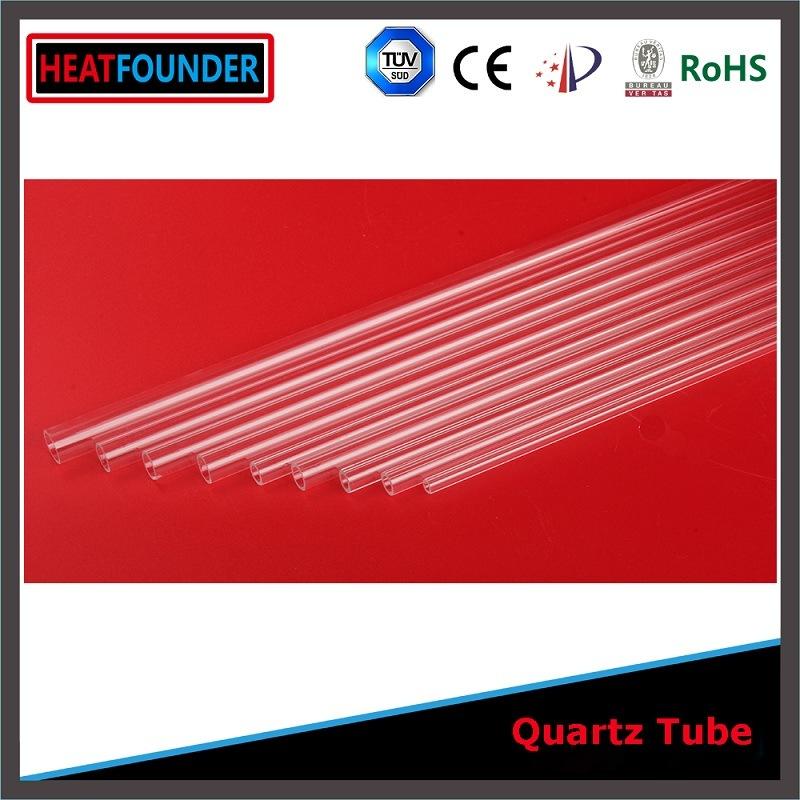 16X1000mm Transparent Fused Silica Quartz Glass Tube (ISO9001: 2008)