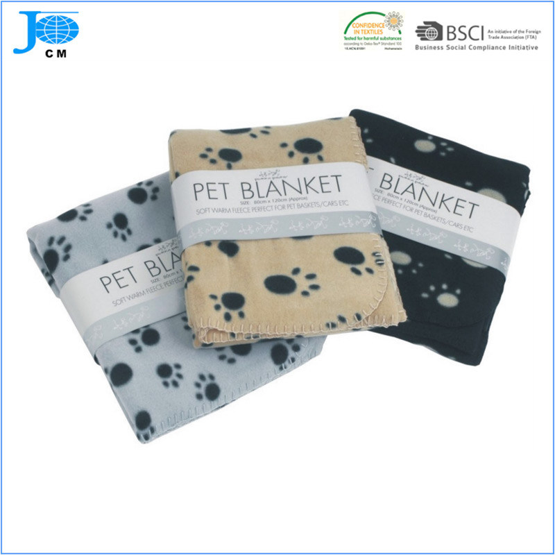 100% Polyester Polar Fleece Printed Pet Blanket