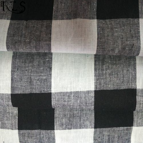Linen/Cotton Woven L/C Yarn Dyed Fabric for Shirts/Dress Rlslc32-5