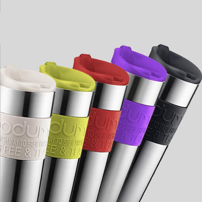 Bodum 16oz Vacuum Thermos Travel Mug with Unique Lid