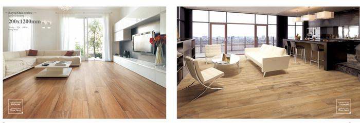 Fancy Garden House Wood Non Slip Ceramic Tiles Floor with ISO9001