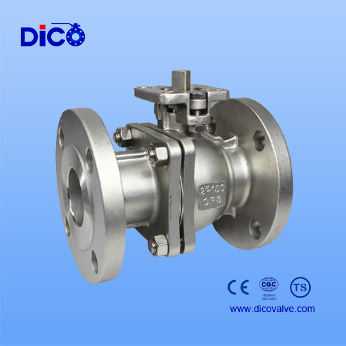 ANSI 150lb Stainless Steel 2PC Flange Floating Ball Valve with Mounting Pad