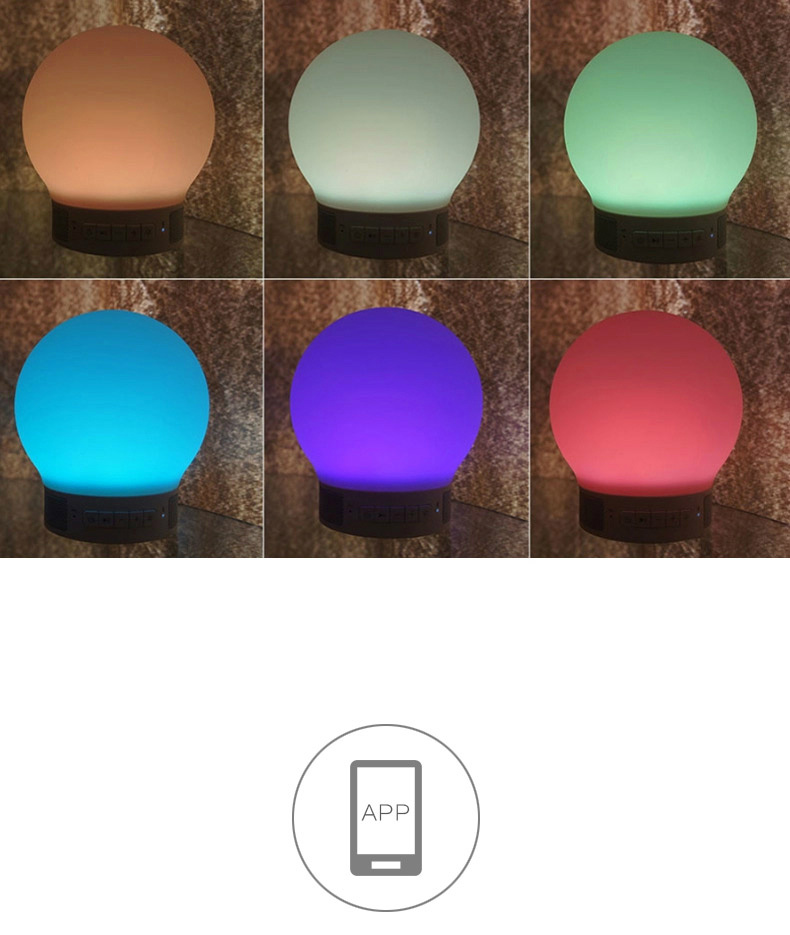 Portable Smart Bluetooth Speaker Lamp with LED Light
