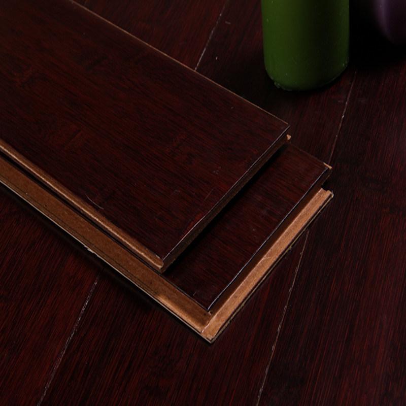 HDF Bamboo Flooring Horizontal Handscraped Cafe
