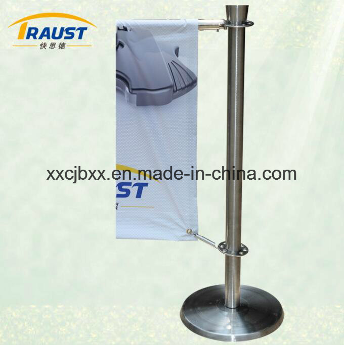 Stainless Steel Portable Advertising Cafe Queue Barrier/Crowd Control Barrier