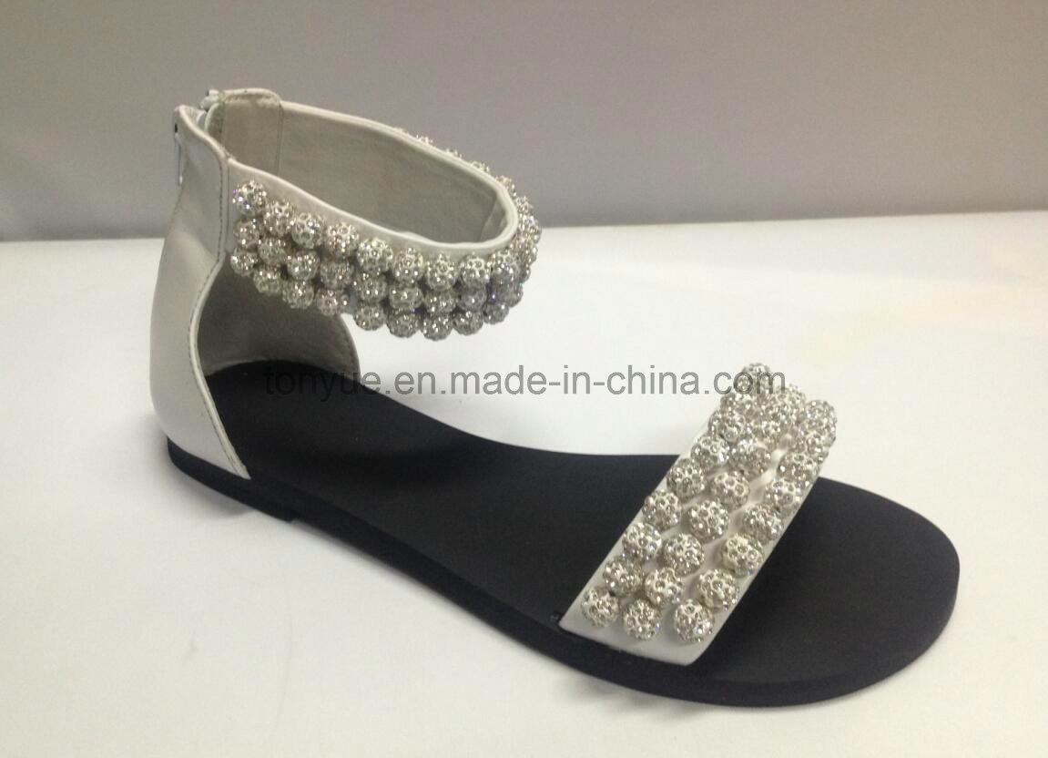 Lady Leather Shoe Flat Fashion Women Sandals