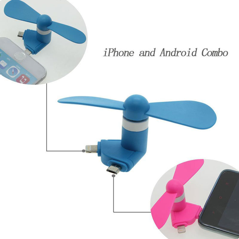 2-in-1 Portable Android Phone Laptop PC Micro USB Cool Mini Fan