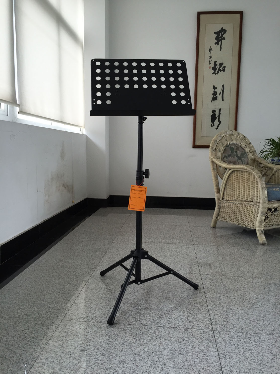Deluxe Collapsible Orchestra Music Stand - Black (MSS2)