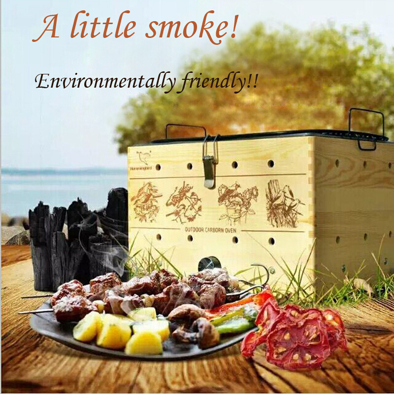 Industrial Outdoor Kebab Smokeless Charcoal BBQ Grill (SO-02)