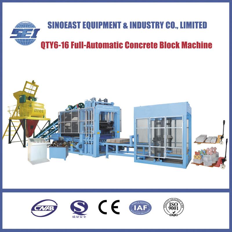 Qty6-16 Hydraulic Full-Automatic Concrete Block Machine