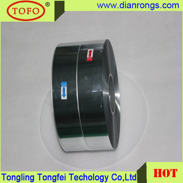 Metallzied Polyester Film 7um MPET Film for Capacitor Use
