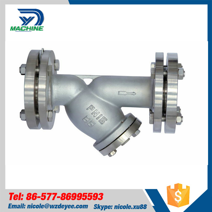 Stainless Steel Sanitary ANSI Flanged Y Strainer