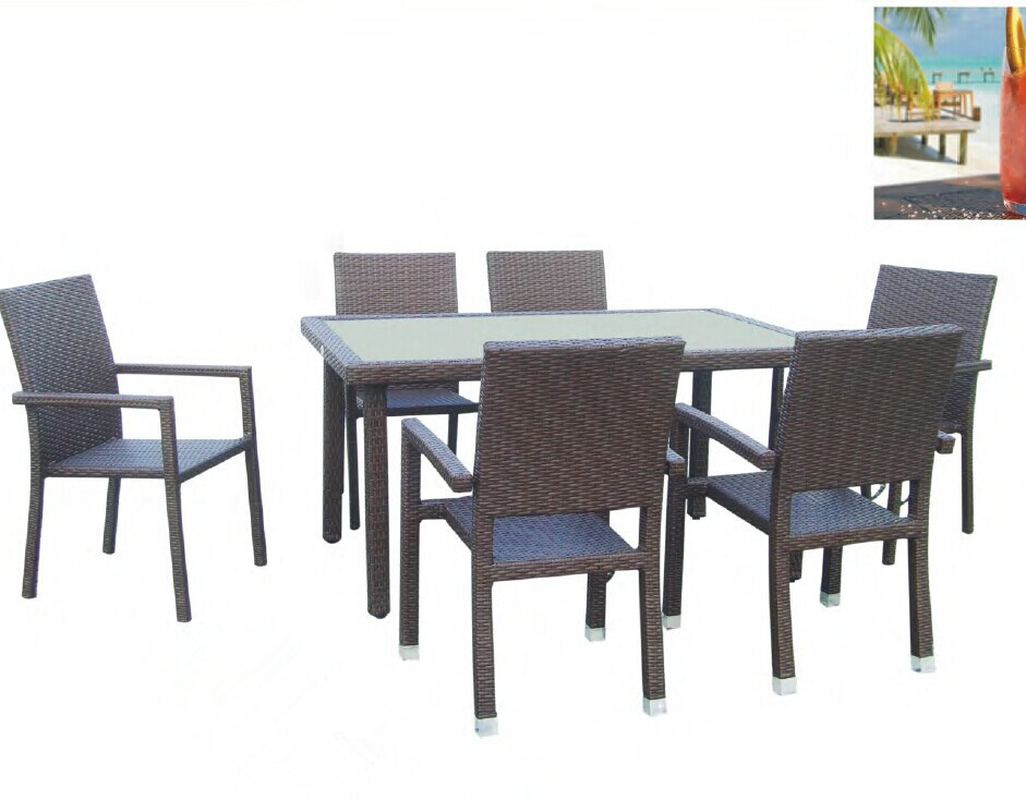 New Design 7 PCS Dining Table and Chairs Sets