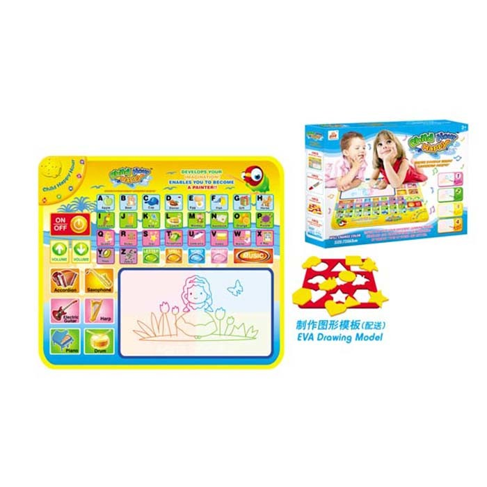 English Musical Learning Carpet Water Doodle Mat Baby Drawing Toy