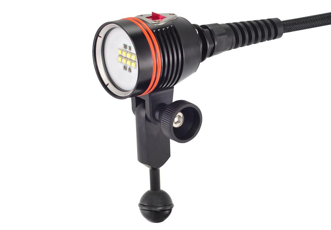 Professional 6500lm Waterproof 100meters IP68 LED Underwater Video Light