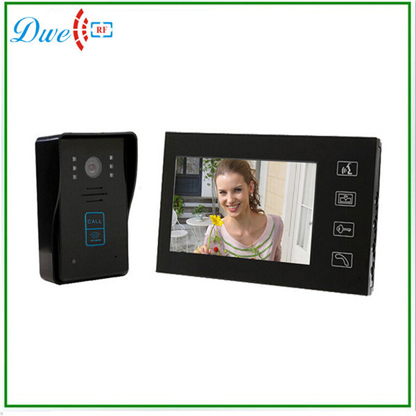 7 Inch Color Wired Video Door Phone Intercom System with ID Card Function