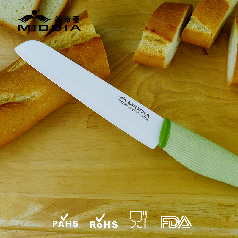 6 Inch Ceramic Bread Knife/Slicing Knife
