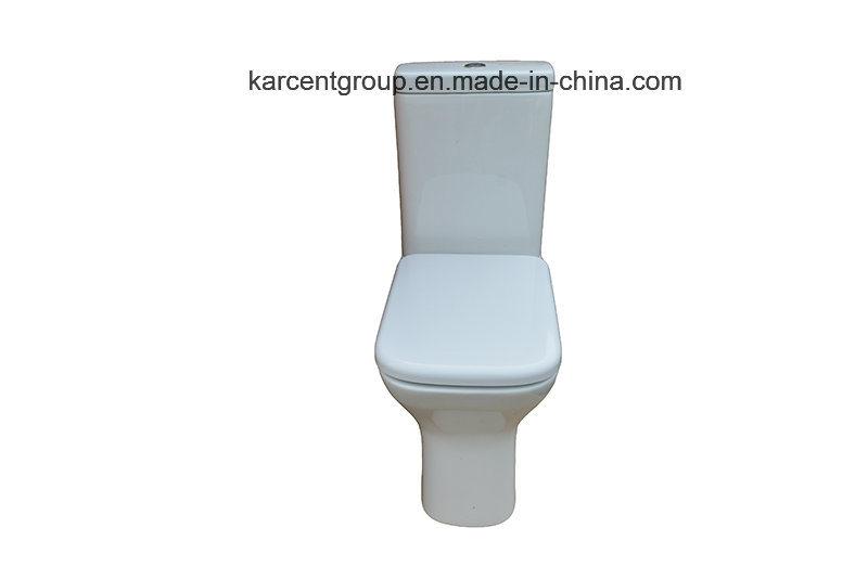 Two Piece Ceramic Toilet Ce Certification Washdown Water Closet 00115