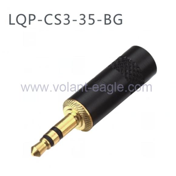 3.5 mm Stereo Plug Headphone Cable Connector Plug CS3-35-Bg