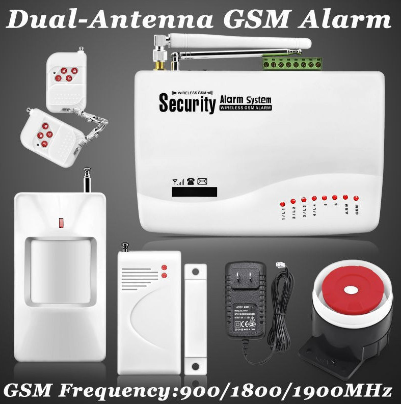 Wireless/Wired GSM Voice Home Alarm Security System Burglar Android Ios Alarm System Auto Dialing Dialer SMS Call