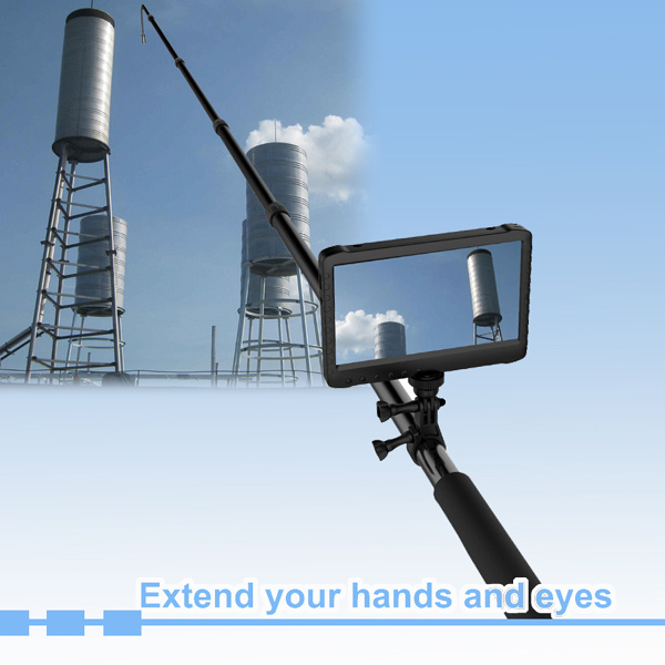 16feet Telescopic Pole HD Digital Pipe, Aquiculture Pisciculture Fish-Farming Inspection Camera with a HD 7inch Monitor