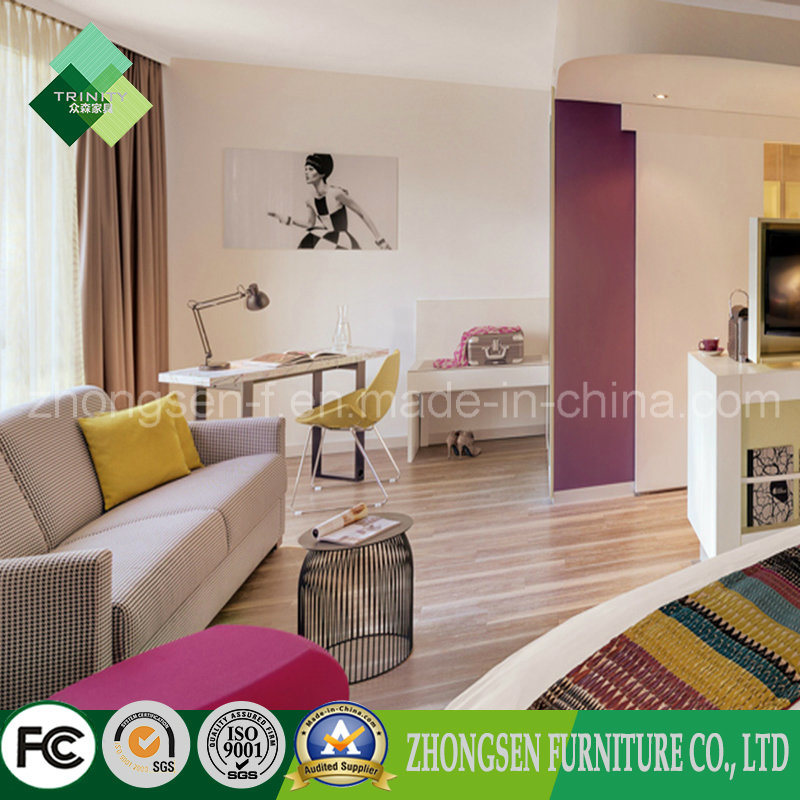 European Style Holiday Inn Hotel Bedroom Furniture for Sale (ZSTF-14)