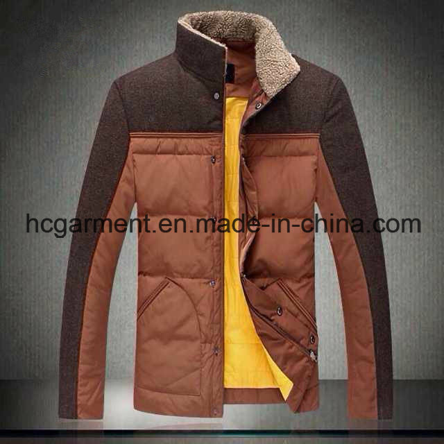 Fashion Outwear Outdoor Clothes Down Fleece Winter Jackets for Man