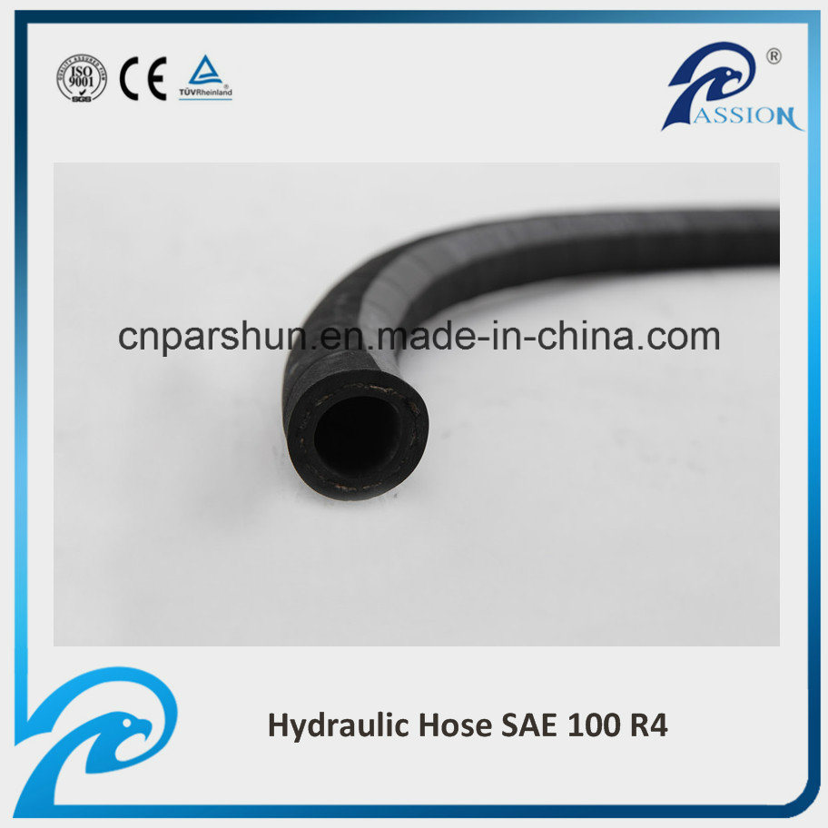 SAE 100 R4 Low Pressure Industrial Hydraulic Return Oil Rubber Hose Pipe