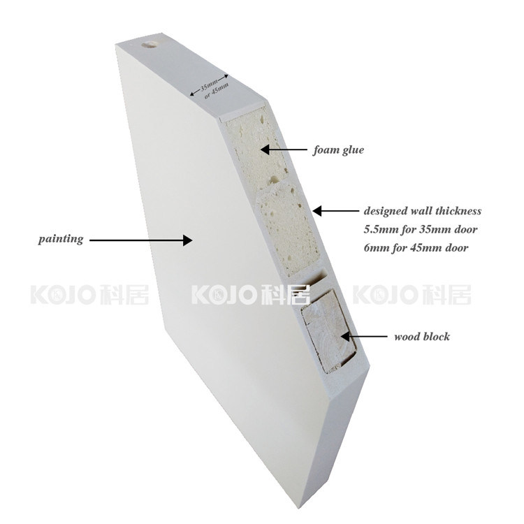 Moistureproof Extruded WPC Swing Door with Simple Design (YM-022)