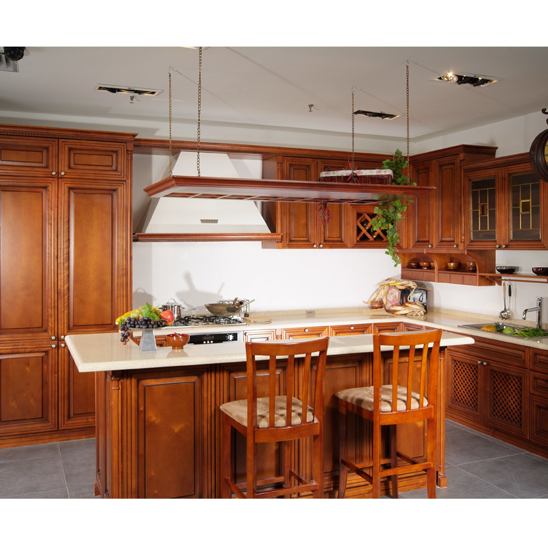 China american cherry solid wood kitchen photos pictures for Cherry wood kitchen cabinets price