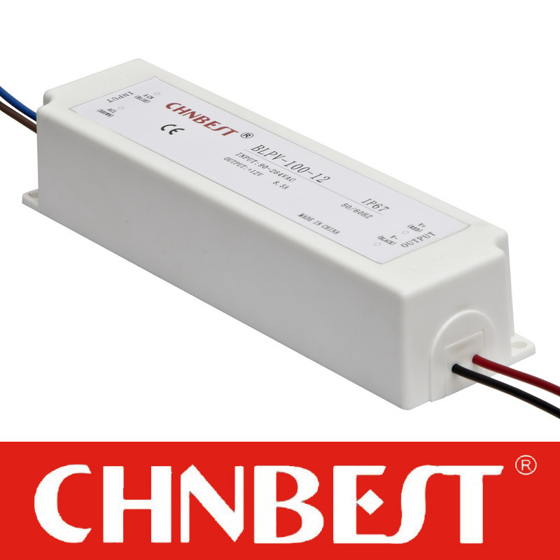 100W 12VDC Outdoor Waterproof IP67 Switching Power Supply with CE and RoHS (LPV-100-12)