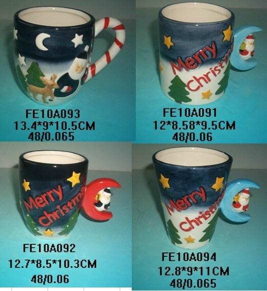 Ceramic Fancy Christmas Mugs Handpainting