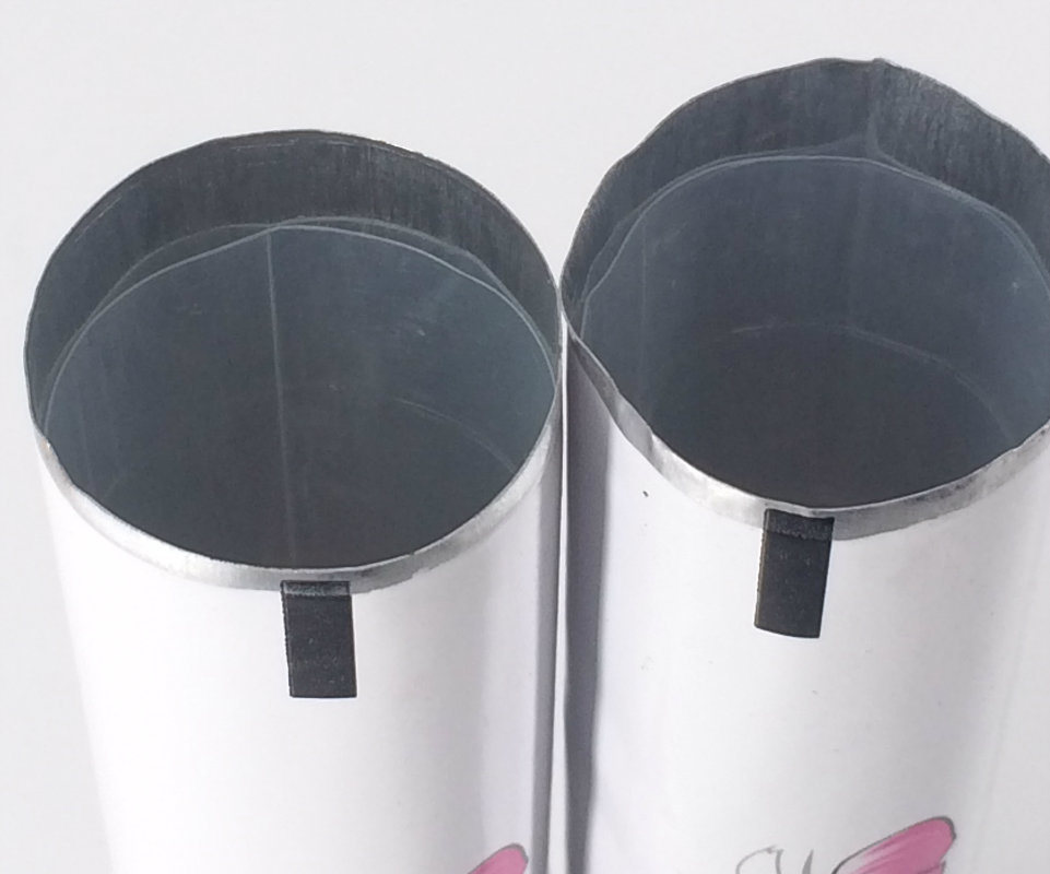 Cosmetic Packaging Hair Dying Color Cream Onsert Aluminum Collapsible Tube with on-Sert Nozzel