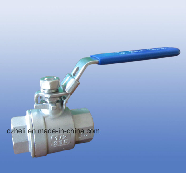 Light Stainless Steel 2PC Ball Valves with Thread Ends 1000psi