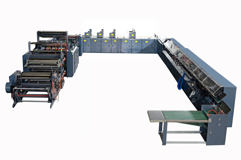 Reel Paper High Speed Flexo Printing and Adhesive Binding Production Line for Exercise Book & Student Notebook