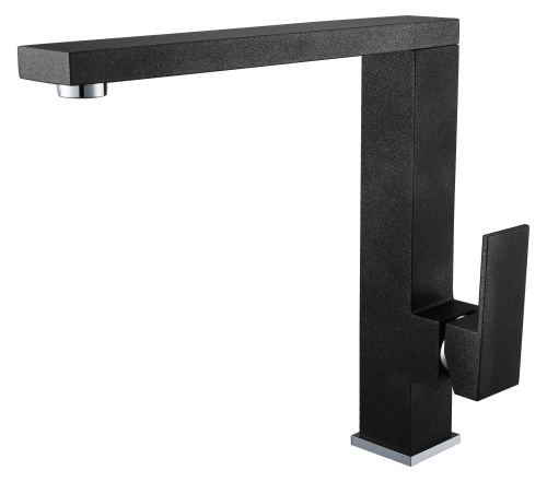 Single Lever Swivel Black Color Kitchen Tap