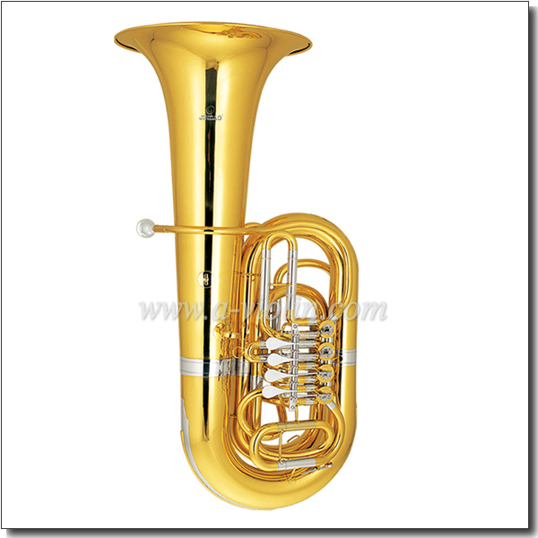 Bb Key Yellow Brass Piston Cupronickel Tuning Pipe Tuba (TU200G)