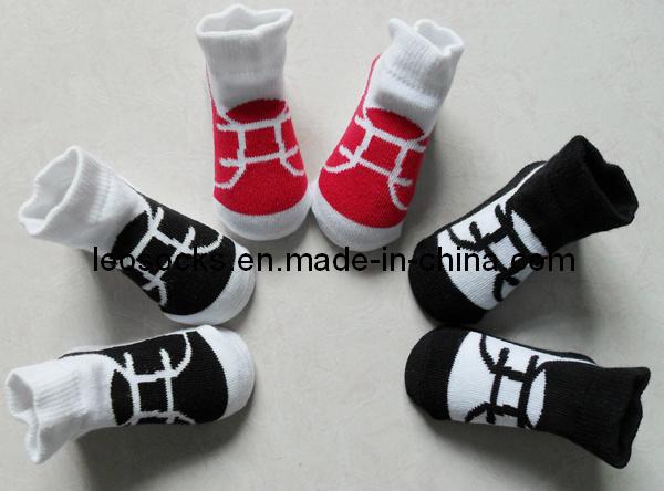 2016 Cotton Infant Baby Socks Like Shoe Design