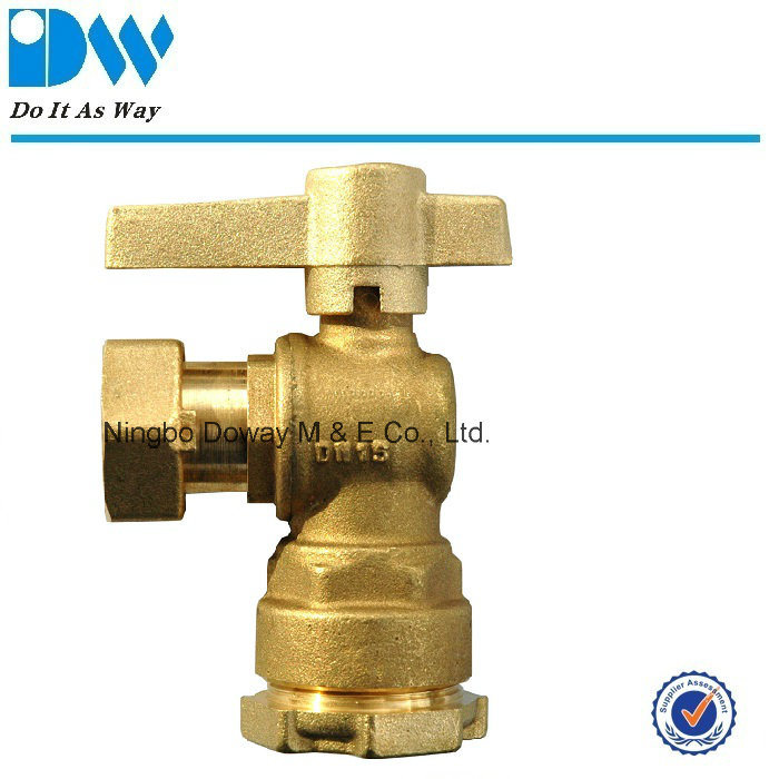 Angle Type Water Meter Ball Valve and Female/Free Nut