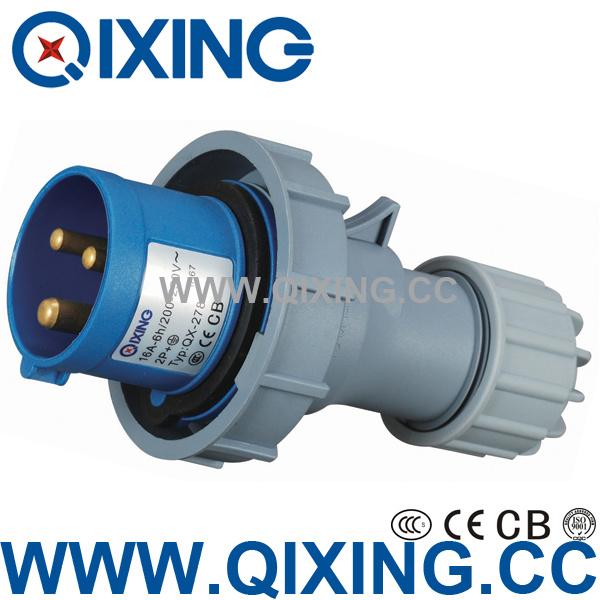 IP67 3p 2p+E 16A 230V Industrial Plug