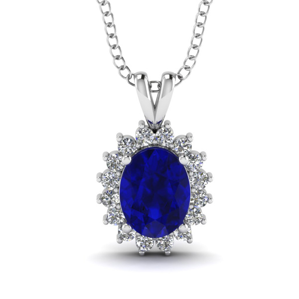 Blue Gemstone Jewelry 925 Silver Spark Pendants Jewelry